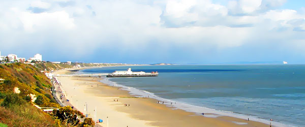 B Beach at Bournemouth